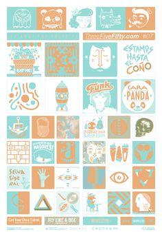 ThreeFiveFifty#07 #stickers #street #art #barcelon #colors #design