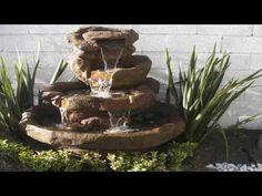 Tutorial Como Hacer una Fuente Decorativa Casera para tu Casa ó jardin PARTE-1 - YouTube