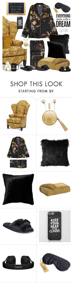 """Lazy day: everything starts with a dream"" by ms-wednesday-addams ❤ liked on Polyvore featuring Michael Amini, The Macbeth Collection, MORPHO + LUNA, Squarefeathers, Kate Spade, DK and Beats by Dr. Dre"