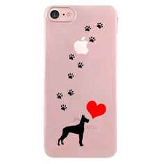 iPhone 7 Polycarbonate Clear Hard Case Clear, Dog Love Walking Great Dane -- Awesome products selected by Anna Churchill
