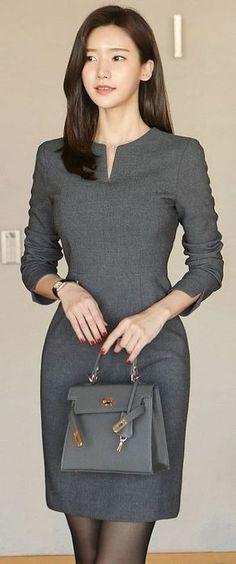 Korean Fashion Online Store 韓流 Trends Luxe Asian Women 韓国 Style Shop korean clothing Freesia banding Dress Luxe Asian Women Design Korean Mode… - All About Casual Dresses, Fashion Dresses, Dresses For Work, Formal Dresses, Fashion Clothes, Casual Outfits, Heels Outfits, Korean Dress Formal, Zara Clothes