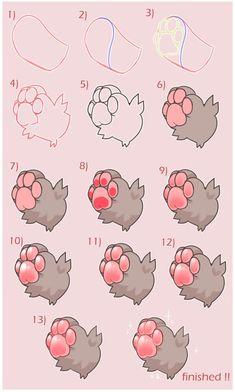 drawingden shios squishy paws tutorial desc by shiowo - - Digital Art Tutorial, Digital Painting Tutorials, Art Tutorials, Drawing Tutorials, Art Reference Poses, Drawing Reference, Drawing Techniques, Drawing Tips, Cute Drawings