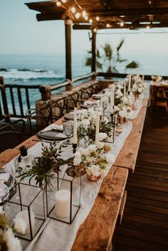 Chic monochromatic wedding in Los Cabos - Inspired by This decorations deko dresses fotoshooting hair ideas ideen Wedding Table Decorations, Wedding Themes, Wedding Candy, Centerpiece Ideas, Decor Wedding, Table Centerpieces, Wedding Dresses, Bridesmaid Dresses, Chic Wedding