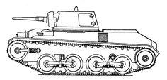 Landsverk L- 10 - a side view of the book Taschenbuch der Tanks