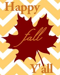 Happy Fall Y'all Printable | LITTLE RED BRICK HOUSE