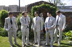 grey suits with toms
