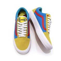 Golf Wang x Vans Pro Classics Old Skool ❤ liked on Polyvore featuring shoes