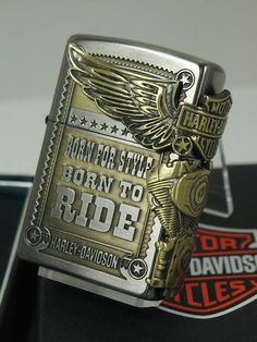 Zippo lighters: Zippo Harley-side Eagle //Harley Davidson / HDP-27 silver JP Japan limited production model silver & brass ☆☆
