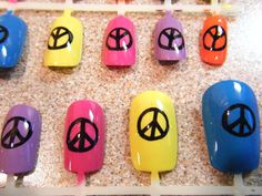 peace    sign            nails | Peace Sign Nails by ~xmansonettex on deviantART