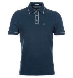 Penguin The Earl 2.0 Blue Teal Pique Polo Shirt Pique Polo Shirt 484c8e8efd988