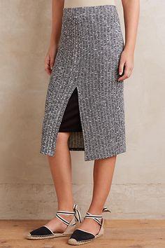 Marl Ribbed Skirt
