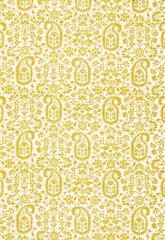 Schumacher linen fabric 'Kalika Paisley Print' in Citron Textile Patterns, Print Patterns, Textiles, Palm Beach, Fabric Design, Pattern Design, Bali Garden, Paisley Art, Traditional Fabric