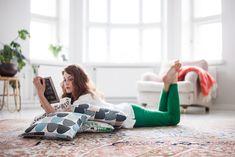 Scandinavian Design Collective: Kauniste - Bright Bazaar by Will Taylor Pink Cushion Covers, Blue Cushions, Turkish Blanket, Marimekko, Decorating On A Budget, Unique Home Decor, Home Decor Accessories, Scandinavian Design, Bean Bag Chair