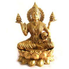 Dhana lakshmi brass idol.very divine