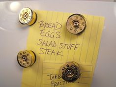 Shotgun Shell Magnets...easy enough to make. I want to make a bunch of these!