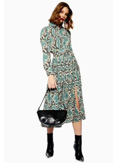 8678deee836 Topshop has a snake-print version of everyone s favourite midi dress