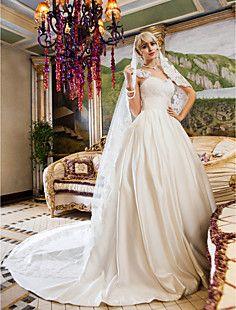 bola vestido de rainha anne corte de cetim trem e vestido de... – BRL R$ 387,12