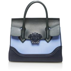Versace Small Colorblock Leather Shoulder Bag ($2,150) ❤ liked on Polyvore featuring bags, handbags, shoulder bags, versace purses, purse shoulder bag, leather purse, colorblock handbags and leather hand bags
