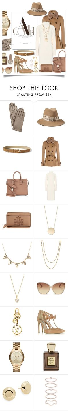 """shades of brown."" by ezgi-g ❤ liked on Polyvore featuring Charter Club, Banana Republic, Burberry, Yves Saint Laurent, The Row, Tory Burch, Samira 13, David Yurman, Linda Farrow Vintage and Olgana"