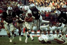 "Larry Csonka. Even the hardest hitting safety of his era, Jack Tatum (a.k.a. ""The Assassin"") of the Oakland Raiders, had a hard time bringing down the Zonk!"