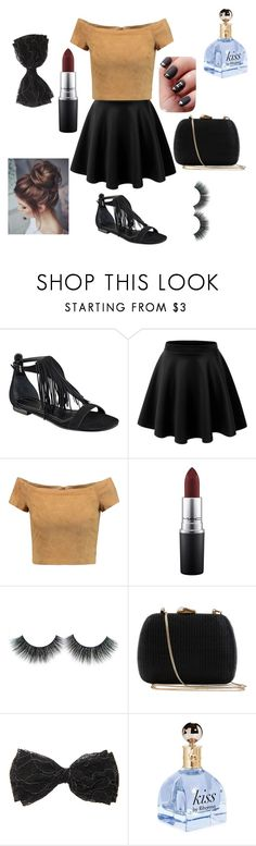"""""""Sans titre #40"""" by megan-simard ❤ liked on Polyvore featuring Kendall + Kylie, Alice + Olivia, MAC Cosmetics and Serpui"""