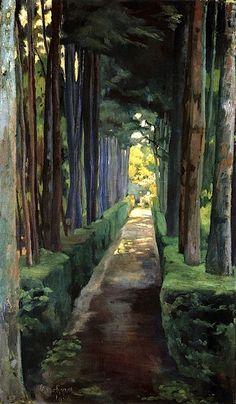 "bofransson:  "" Melancholy Promenade - Diego Rivera, 1904  """