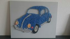 VW Kever, selfmade string-art project
