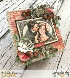 Be Mine Treasure Box- Mon Amour- By Magda Cortez- Product of Graphic Photo 06 of 07 Valentine Day Cards, Happy Valentines Day, Holiday Cards, Graphic 45, Altered Boxes, Altered Art, Saint Valentine, Treasure Boxes, Crafty Craft