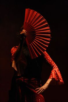 "Flamenco dancer ""Red Fan"" by Omalix Foto Portrait, Art Asiatique, Lets Dance, Dance Art, Shades Of Red, My Favorite Color, Black Backgrounds, Lady In Red, Colours"