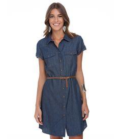 Vestido Chemise Feminino em Jeans - Lojas Renner