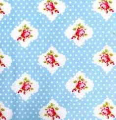 Tanya Whelan Darla 'Rosie Dot' Blue for by SouthernSeamsFabrics, $6.50
