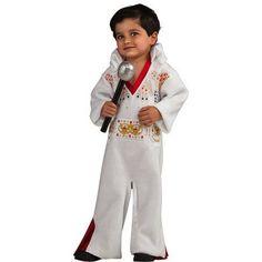 Elvis Romper 6-12 Months Halloween Costume, Kids Unisex, Size: Toddler, White