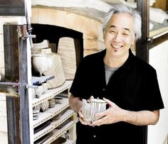 Dual Expression --- typical for AVL ... Akira Satake, an incredible master potter, who also loves & excels at playing the Japanese Banjo (the Shamisen) and has played with Bela Fleck. | WNC Magazine