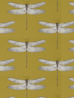 Demoiselle, a feature wallpaper from Harlequin, featured in the Palmetto collection.