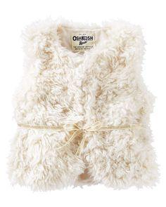 Toddler Girl Faux Fur Vest | OshKosh.com