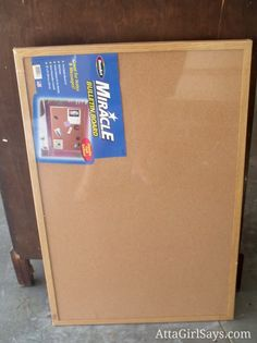 Fabric covered bulletin board tutorial AttaGirlSays.com