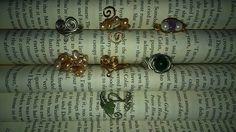 Wire wrapped rings! pearls, gemstones https://m.facebook.com/LaceOfHeartsJewellery