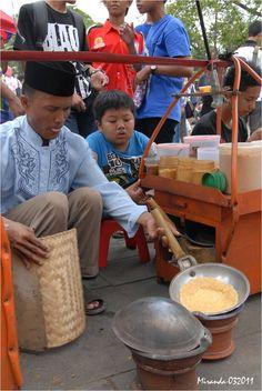 Kerak Telor, traditional food from Jakarta, Indonesia