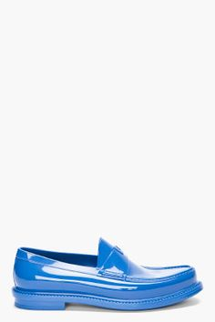 Yves Saint-laurent COBALT SHOW LOAFERS