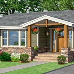 photoshop redo craftsman makeover for a no frills ranch ranch homes exteriorranch - Ranch Home Exterior