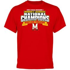 2987eed12d2f Maryland Terrapins 2014 NCAA Women's Lacrosse National Champions T-Shirt -  Red University Of Maryland