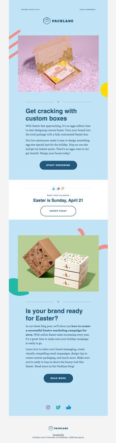 Are you ready to spring into action this Easter? E Mail Template, E-mail Design, Holiday Emails, Spring Into Action, Best Email, E-mail Marketing, Custom Boxes, Easter, Universe