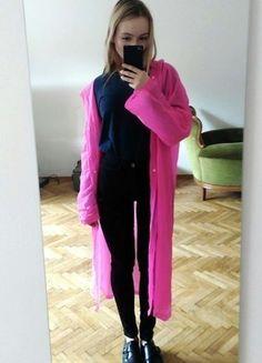 Kupuj mé předměty na #vinted http://www.vinted.cz/damske-obleceni/plastenky/11455678-syte-ruzovy-dezdnik-s-kapuci-a-flitry