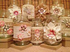 12 Mason Jar Wedding Centerpieces, Rustic Wedding, Burlap Mason Jar Sleeves, Jar Not Included, Bridal Shower Decorations - Mason Jar Projects, Mason Jar Crafts, Burlap Mason Jars, Wine Bottle Crafts, Bottle Art, Bottles And Jars, Glass Jars, Burlap Crafts, Diy And Crafts