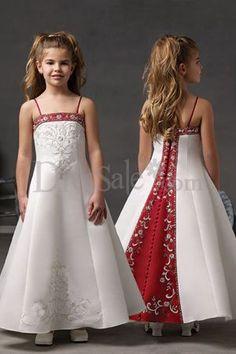 Spaghetti Ankle Length Dresses for Flower Girl Dresses