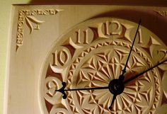 Beautiful personalized chip carved clock