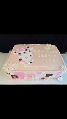 Baby shower cake. Cakes by Elise. Www.Facebook.Com/cakesbyelise.