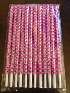 Pink glam / bling cake pop sticks by Simply Fab & Chic