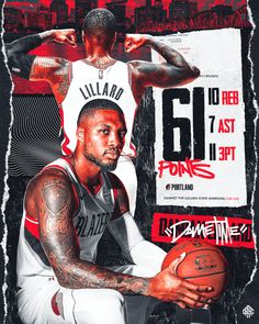 Behance is the world's largest creative network for showcasing and discovering creative work Damian Lillard, Nba Pictures, Basketball Pictures, Cristiano Ronaldo, Mvp Basketball, Sport Football, Hockey, Sports Graphic Design, Sport Design