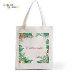 Tote Bag à personnaliser Rock my Citron, Tropical, Cadeaux Fêtes, Anniversaires, Mariages